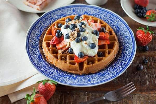 blueberry cream waffle